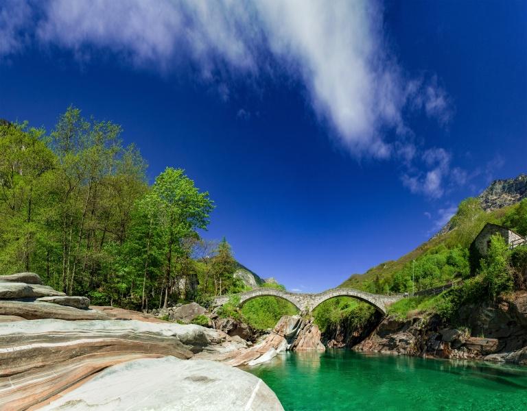 Ponte dei Salti - Tessin - Verzasca - Schweiz