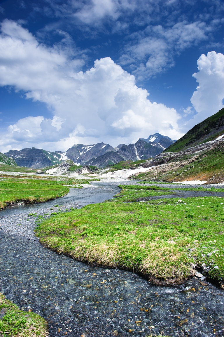 Greina mountain valley